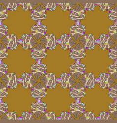 Doodle tropical fish on a brown beige and gray vector