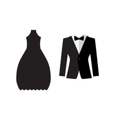 dress and suit icon isolated vector image