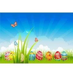 Easter festive background vector