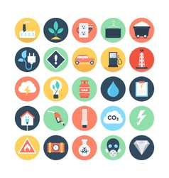 Energy and Power Colored Icons 2 vector image vector image