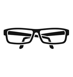 eye glasses icon simple style vector image