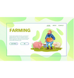 farming flat set vector image