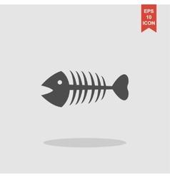 Fish skeleton Flat vector image