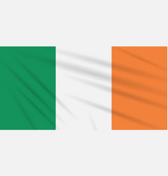 flag ireland swaying in the wind realistic vector image