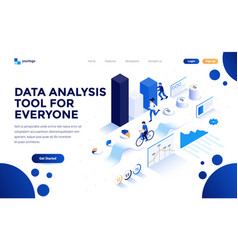 flat color modern isometric concept - data vector image
