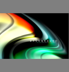 Fluid liquid colors design colorful marble or vector
