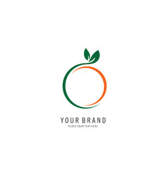 Fruit abstract logo vector