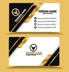 Golden black business card template psd vector