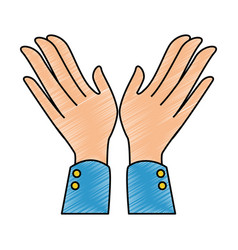 hands applauding isolated icon vector image