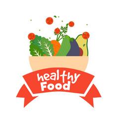 Healthy food poster vector