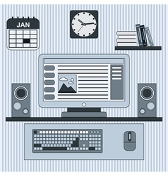 Home workplace concept vector image