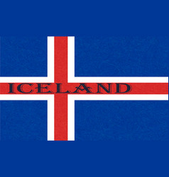 Iceland flag icelandic banner with scratched vector