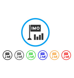 Imo bar chart icon vector