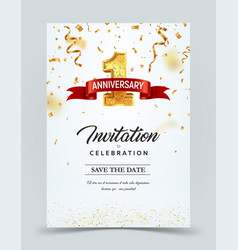 Invitation card template to the day of the 1 vector