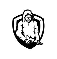 killer mascot logo design skull vector image