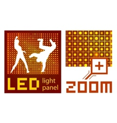 Led panel vector