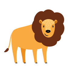 Lion cartoon icon vector