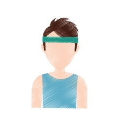 Man with sport headband vector image
