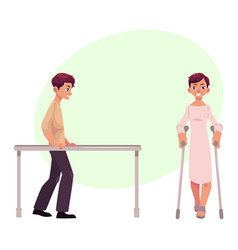 Medical rehabilitation therapy parallel bars vector