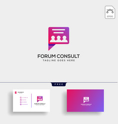 message communication consulting logo template vector image