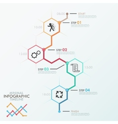 Minimal infographic timeline vector