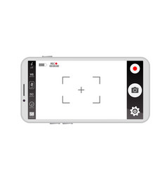 mobile viewfinder video vector image