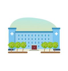 Modern hospital building healthcare system vector