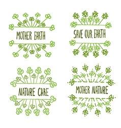 Nature ecology labels set vector