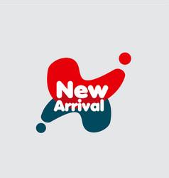 New arrival label template design vector