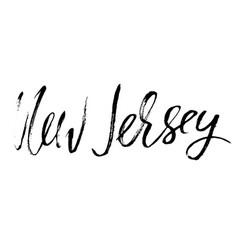 new jersey modern dry brush lettering retro vector image