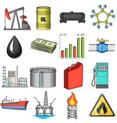 oil rig pump and other equipment for oil recovery vector image