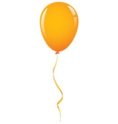 Orange balloon ribbon vector