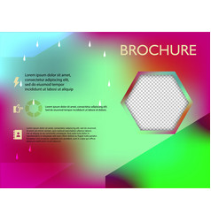 Poster flyer brochure cover design layout space vector