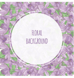 Purple flower floral background frame illus vector