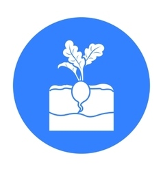 Radish icon black Single plant icon from the big vector