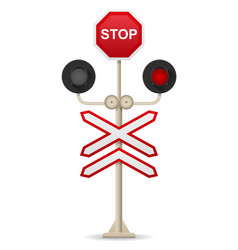 railroad crossing 01 vector image