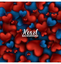 Red and blue heart Valentines day card Love vector image