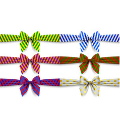 ribbons set with bow vector image