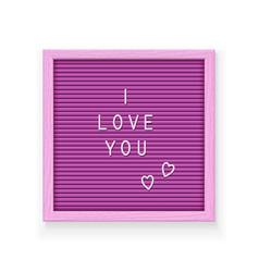 Rose letter board vector