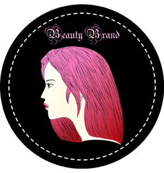 Rose red hair woman vector