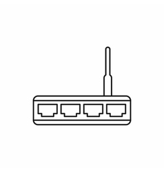 Router icon outline style vector image