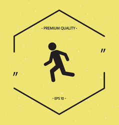 running man run icon vector image