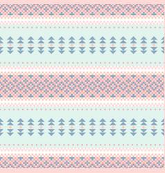 seamless ethnic tribal pattern horizontal pastel vector image