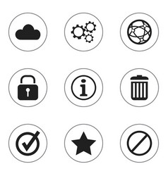 set of 9 editable internet icons includes symbols vector image