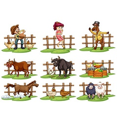 Set of fences vector