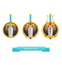 Sharp Sword Icons vector