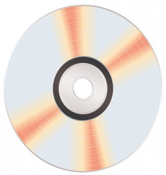 shiny music cd vector image