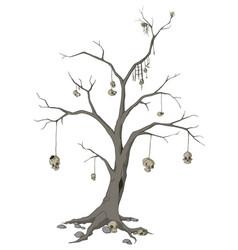 Skull tree vector