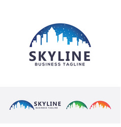 Skyline logo vector