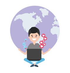 social network technology vector image